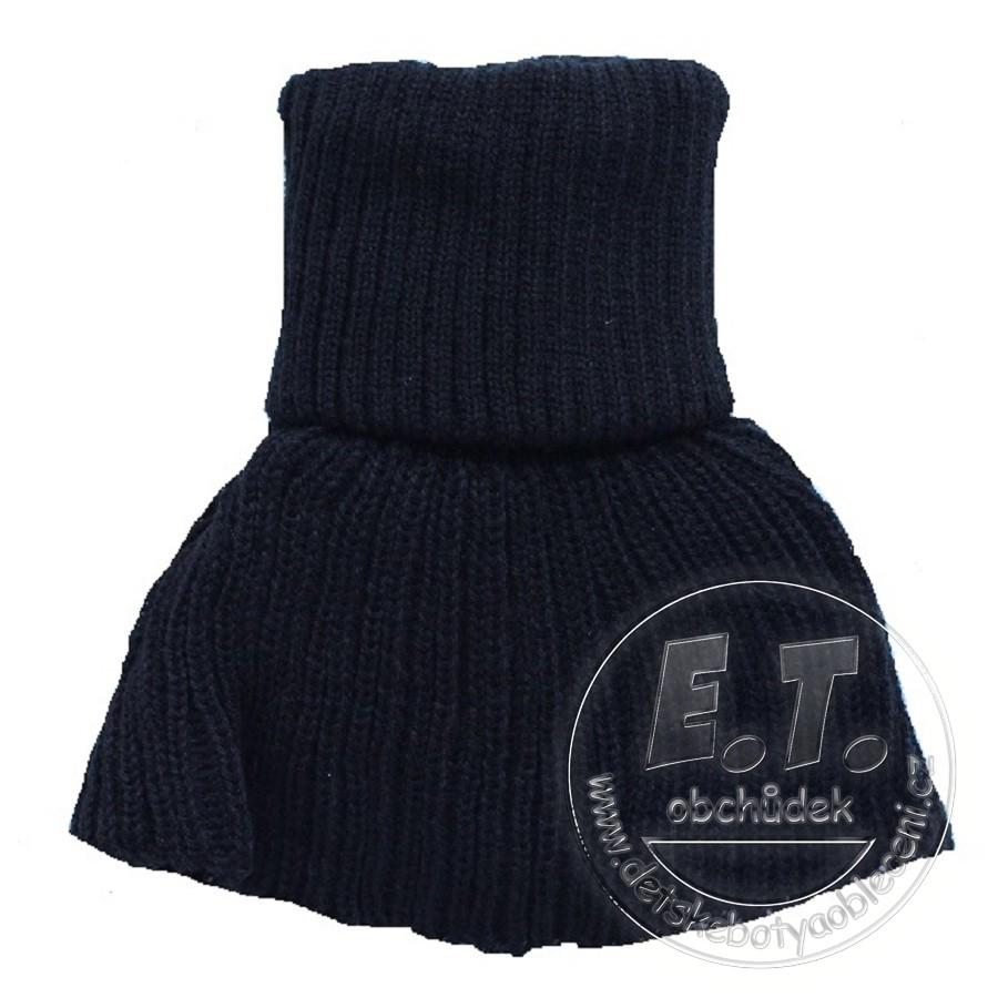 Pletený dětský nákrčník - černý db8c363c76