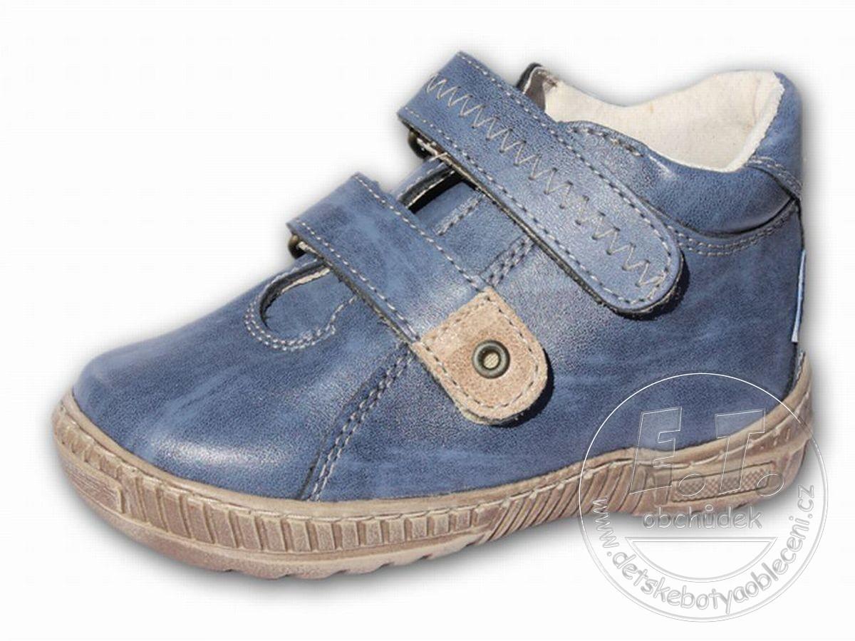 Kotníkové dětské boty PEGRES model 1404 - modré č.1 7e8cb2142e