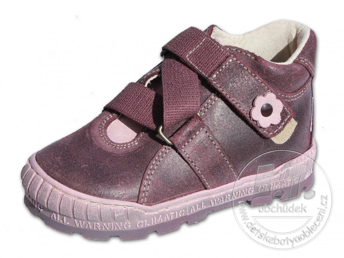 5be52ebe64b Celoroční dětské boty PEGRES - model 1402 - fialové č.1