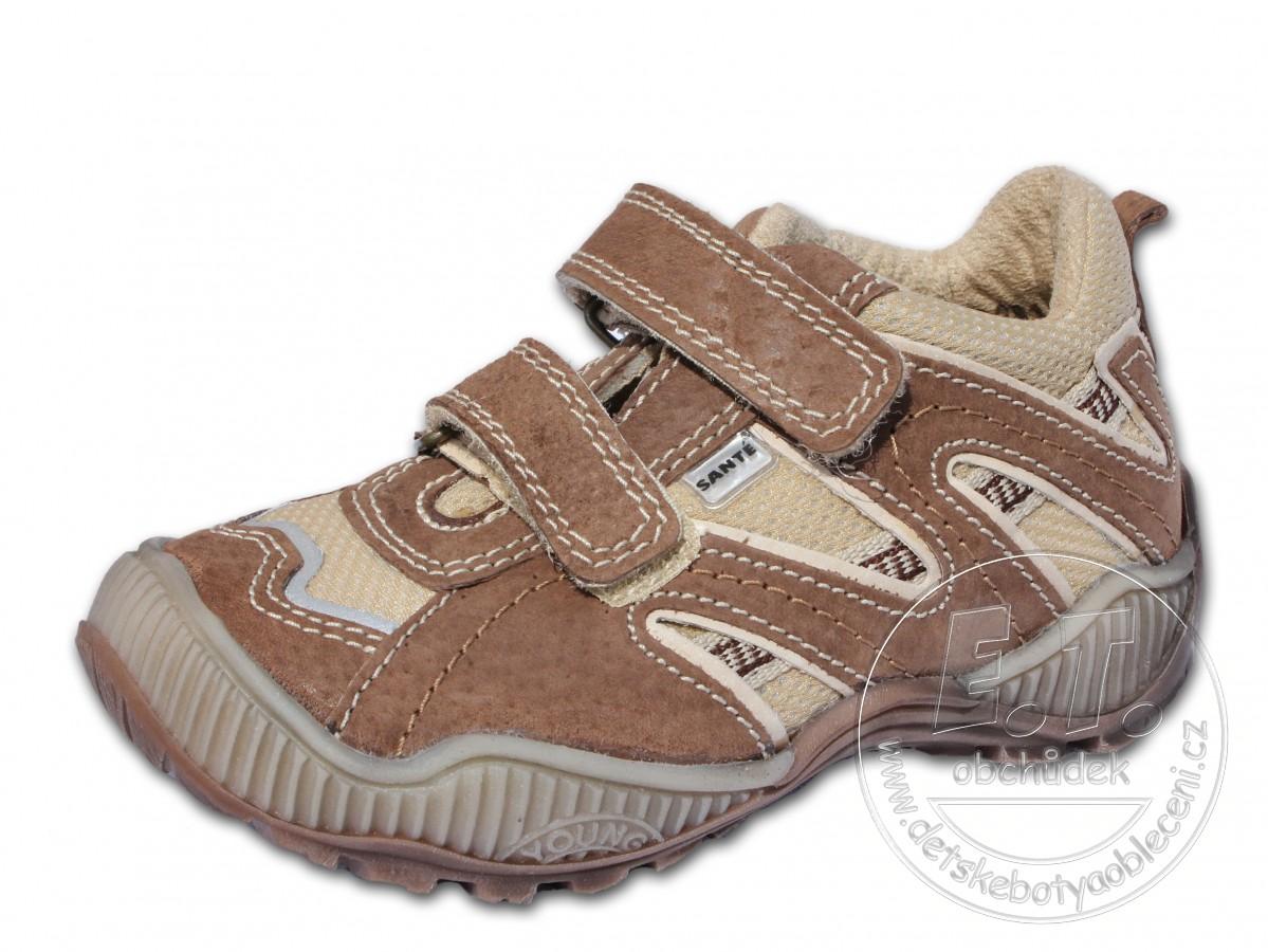 Celoroční dětské boty SANTÉ - model N 401 102-103 - hnědé ... bc57a42506