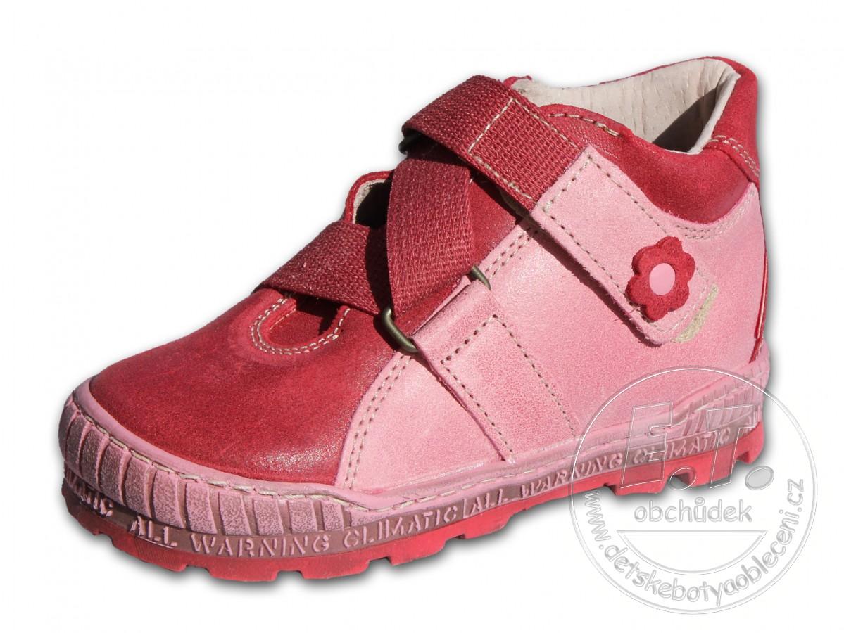 7e500747564 Celoroční dětské boty PEGRES - model 1402 - červené