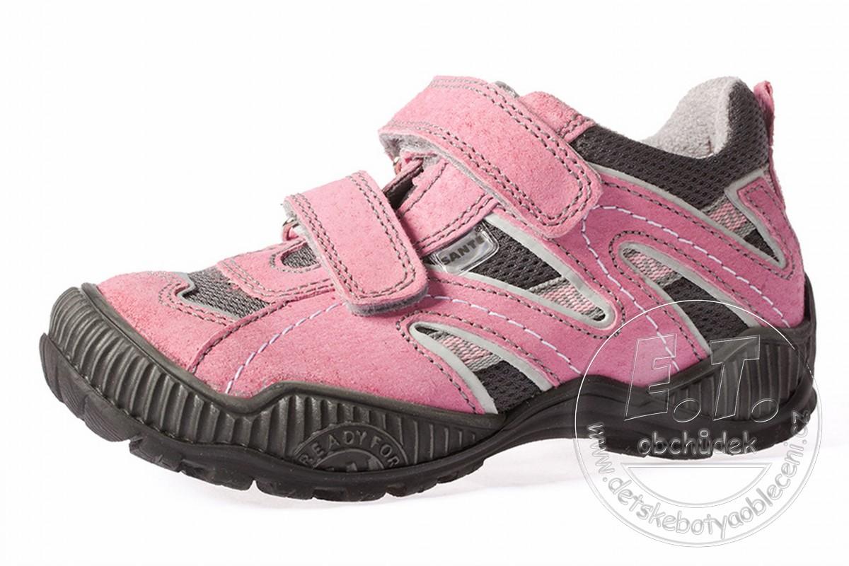 e719a0e6076 Celoroční dětské boty SANTÉ - model N 401 102-103 - růžové ...