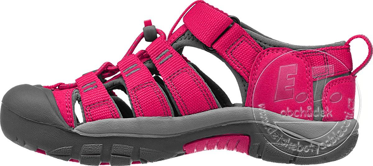 f96520e90fb Dětské sandále Newport H2 KEEN rose red   gargoyle č.1. Doprava zdarma