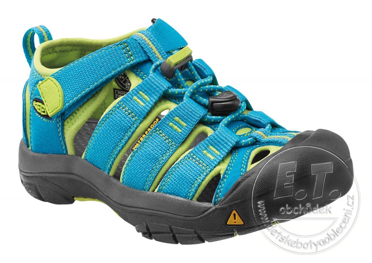 5aefaa1091ea Dětské sandále Newport H2 KEEN hawaiian blue   green glow