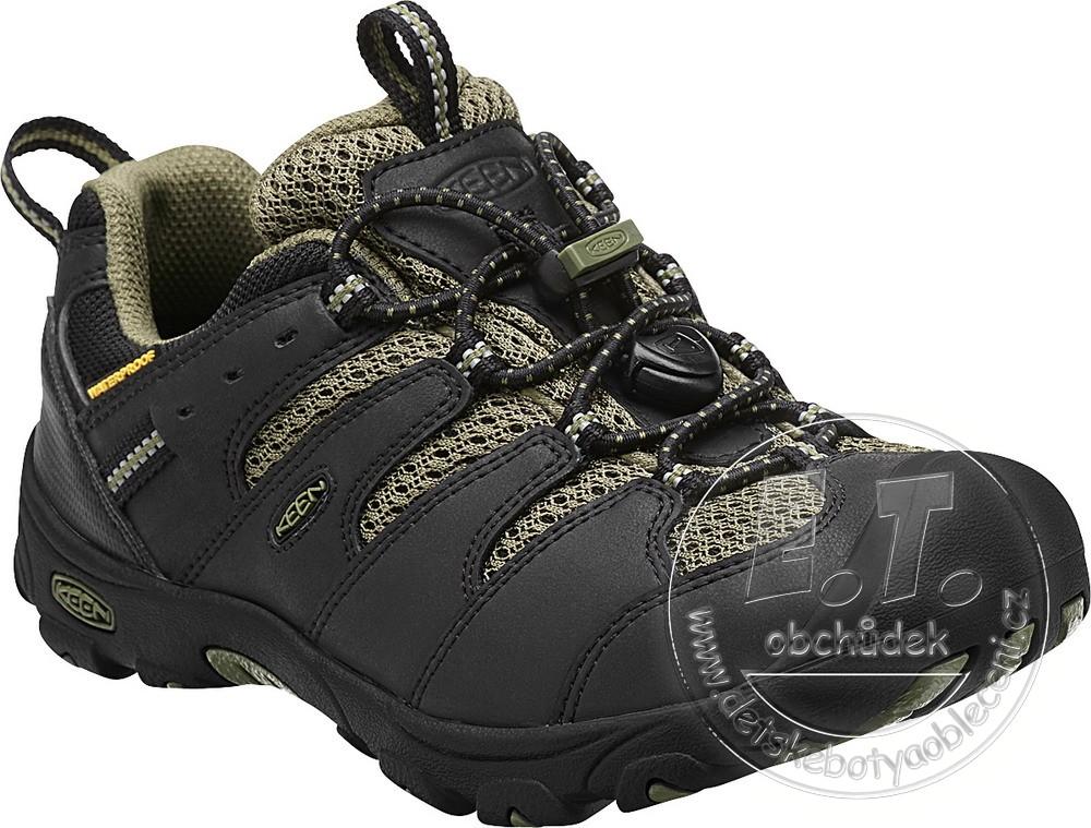 Celoroční boty KEEN - KOVEN LOW WP black burnt olive č.1 2cec3c7b5e