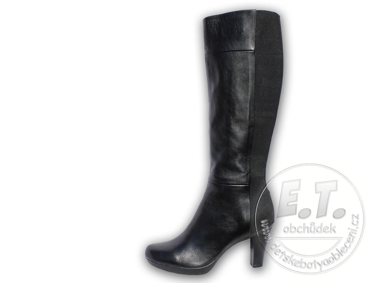 7048cc20af58c Dámské kožené kozačky GEOX, model D54G9C - černé | Dámské boty ...
