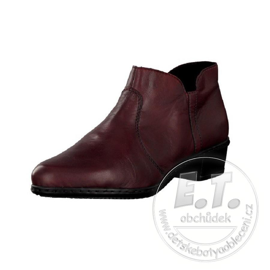 5e6798a749403 Dámské kotníkové boty, obuv RIEKER - M0780-35, vínové | Dámské ..