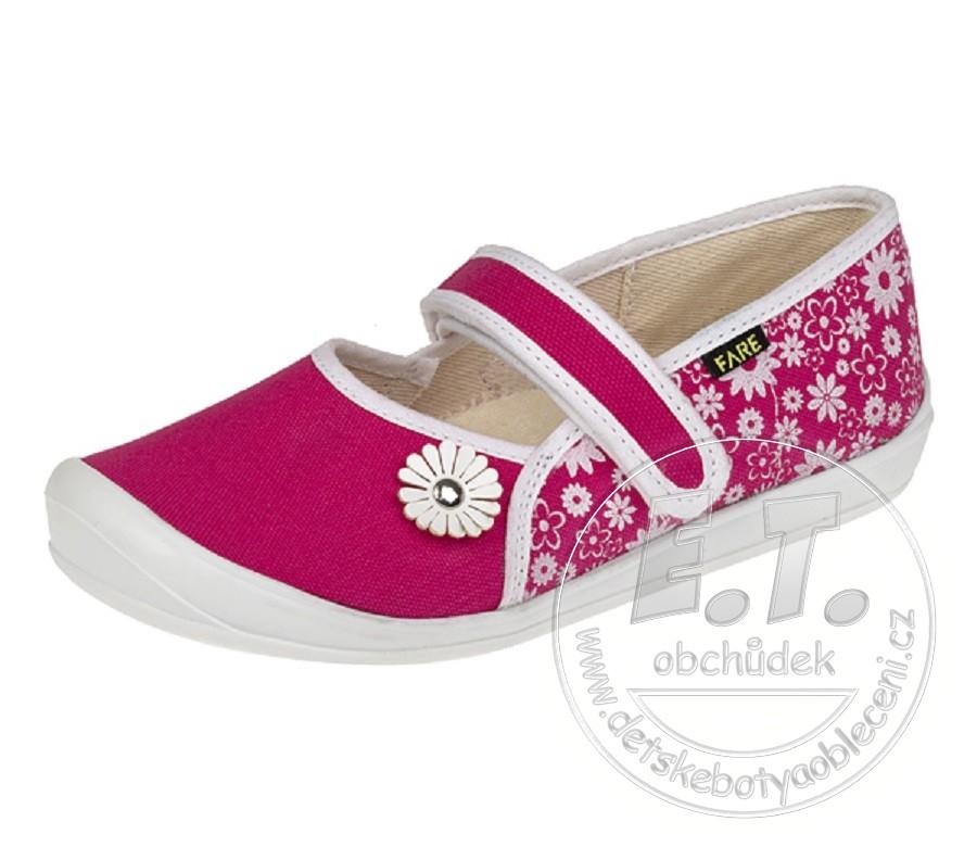 Dívčí textilní balerínky FARE 943871cea9