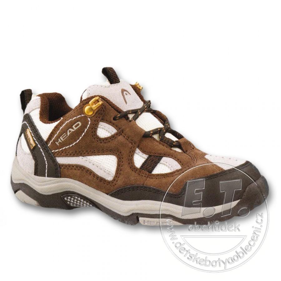 Dětské trekingové boty HEAD hnědo-bílé  eacf8694a3