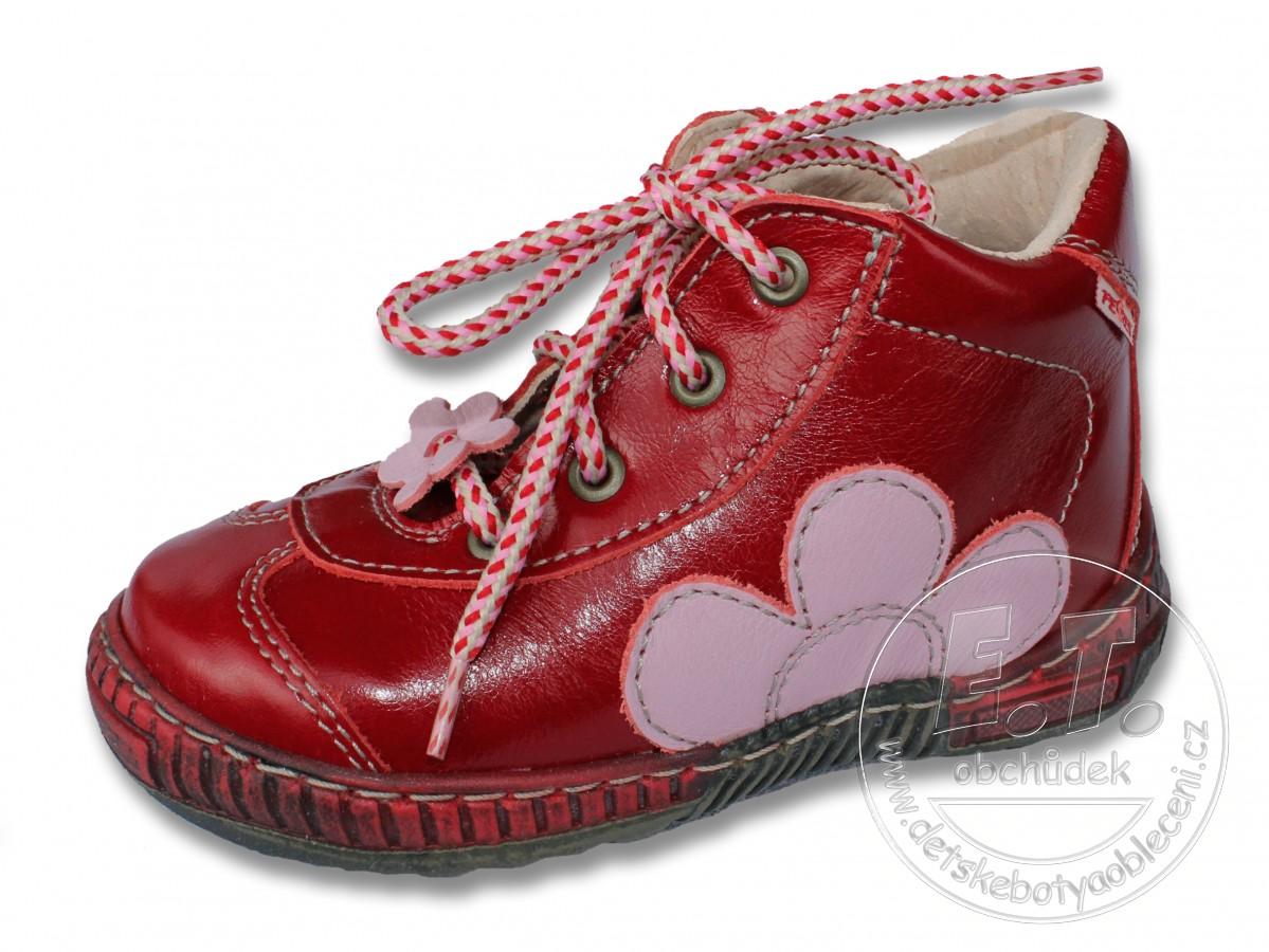 447f4b61875 Kožené kotníkové boty PEGRES - model 1401 - červené lakovky ...
